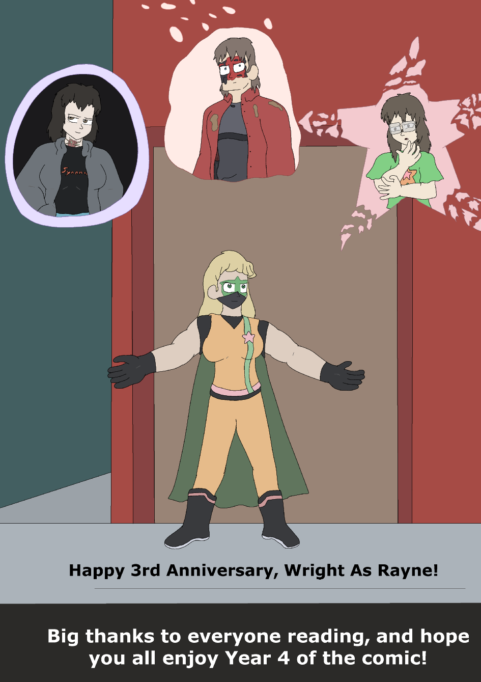 Wright as Rayne's Third Anniversary